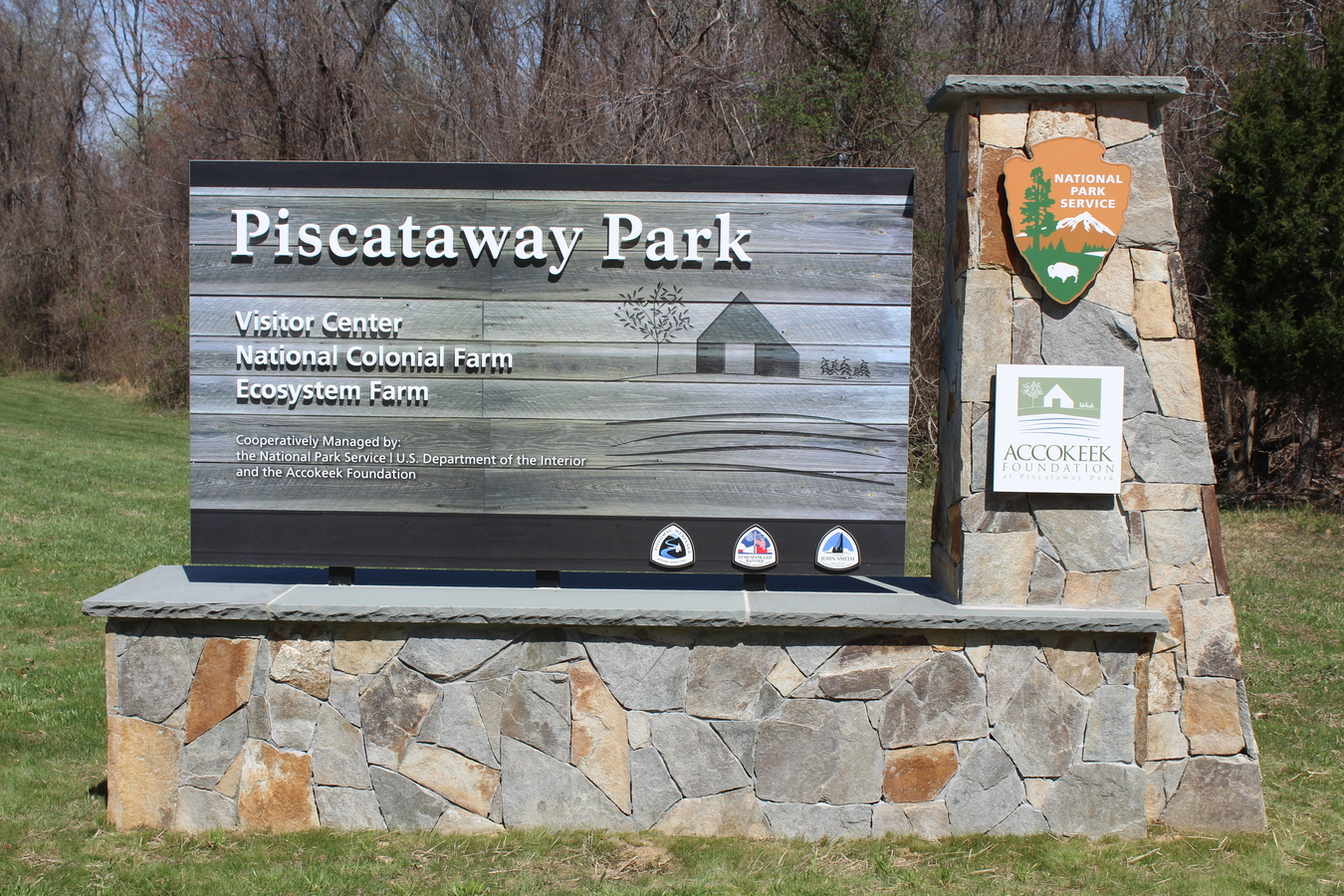 5b Accokeek Sign : Piscataway Park Sign was Designed Built and Installed in 6 weeks.