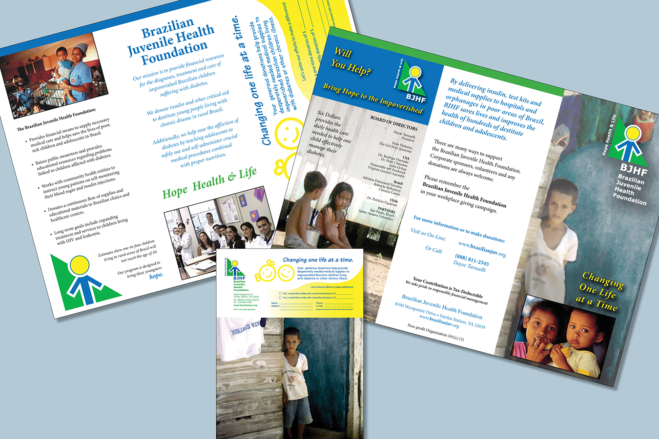 Brochures 2 : Brazilian Juvenile Health Foundation Fund Raiser