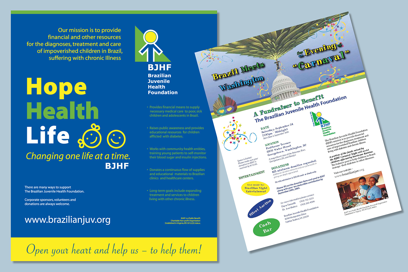 Brochures 3 : Brazilian Juvenile Health Fund Raiser