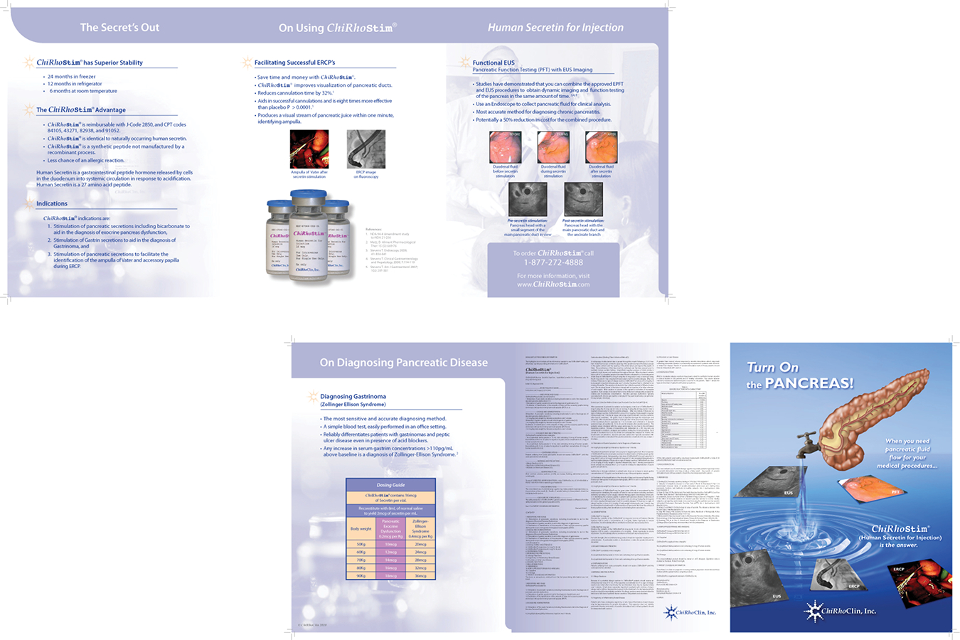 Brochure 10 : Chirhoclin Tri Fold brochure featuring Chirostim Human Secretin for Injection