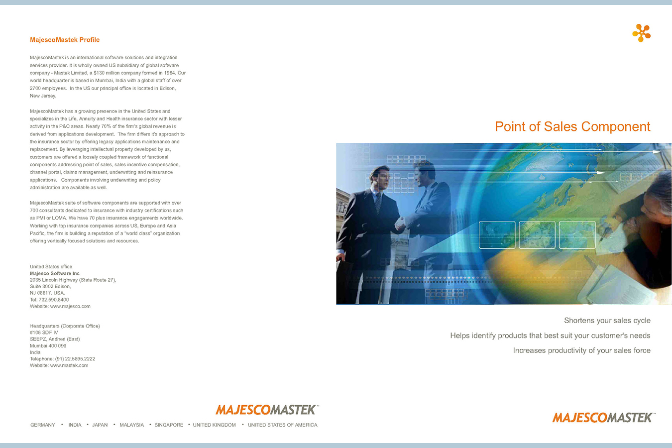 Mastek 1 : Majesco Mastek is an international software solutions provider