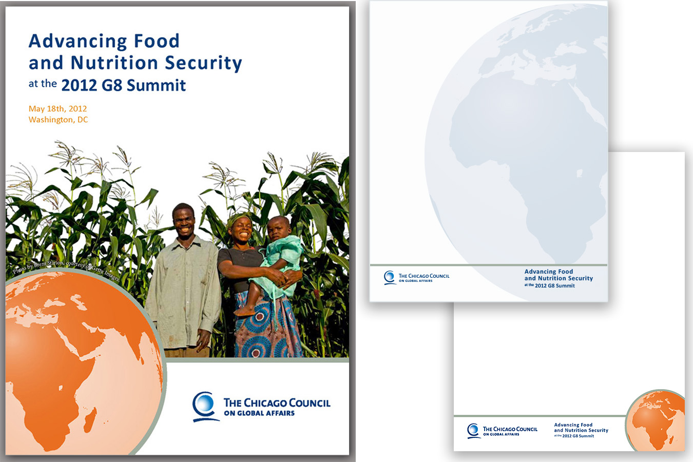 CG8 Brochure : Chicago Council G8 Conference on Food Safety Conference Brochure and Page Layouts