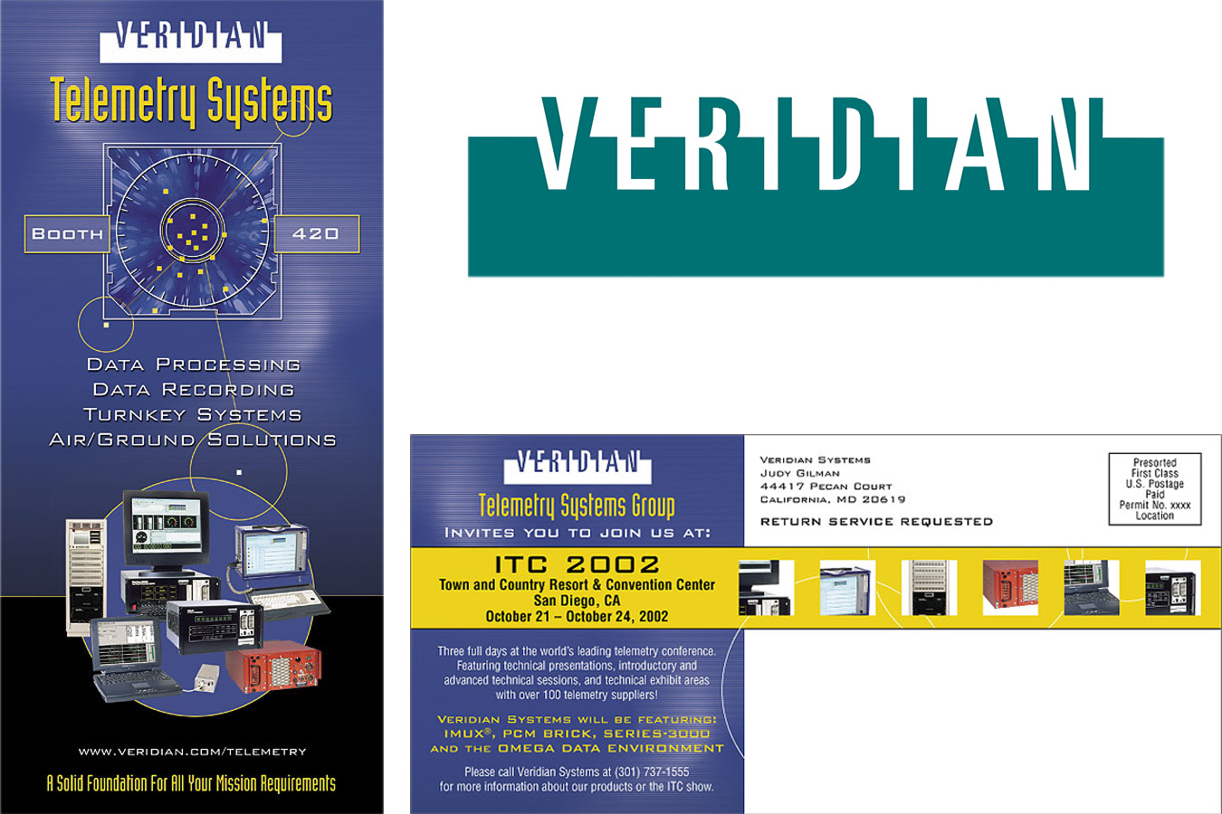 Veridian Postcard : Paris Design provided trade show and collateral services to Veridian more than 10 years