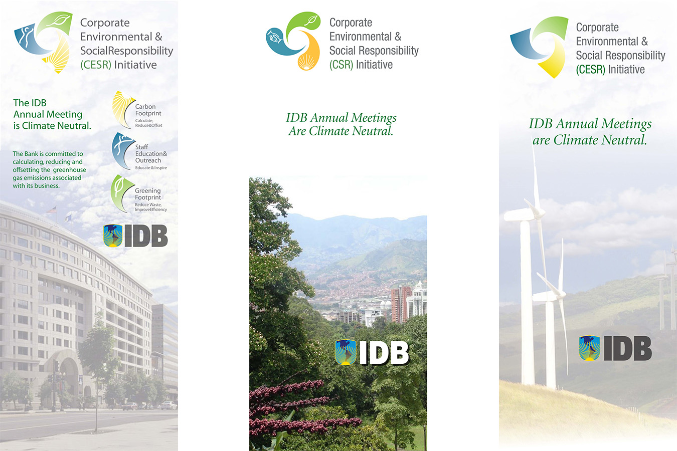 IDB Banners : Inter-American Development Bank Banners for sustainability program