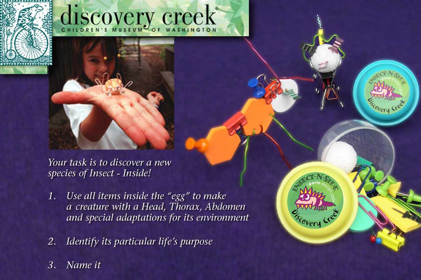 Insect in : Hands-on learning activity: create, name and find purpose for a new Insect using office items