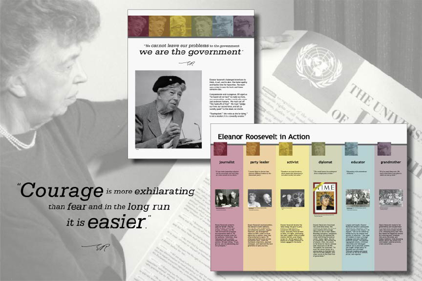 ELRO 3 : Eleanor championed the United Nations' Universal Declaration of Human Rights