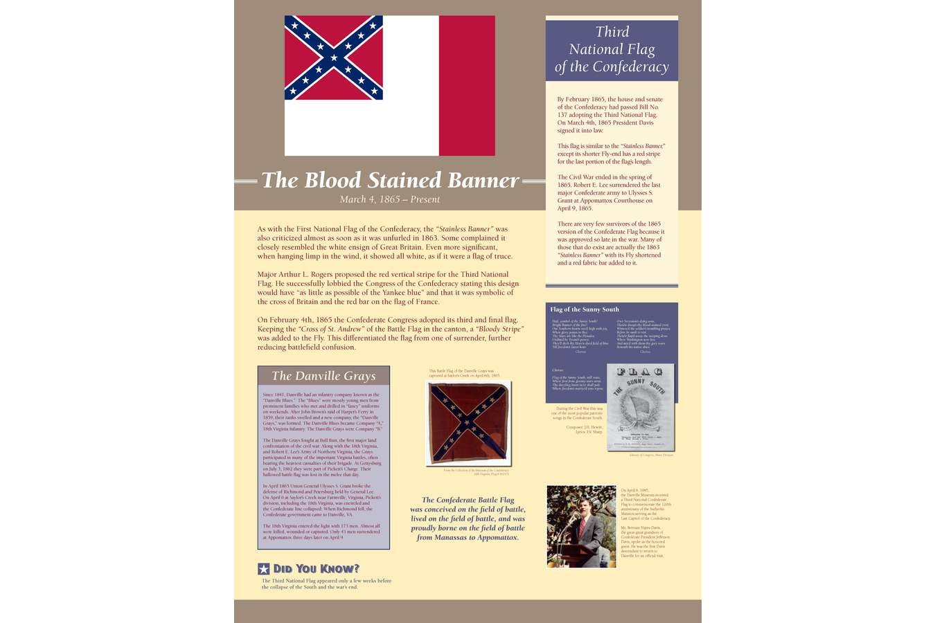 Test of DMFAH Panel : Only a very few of these flags were ever made, as the war ended shortly after they were designed