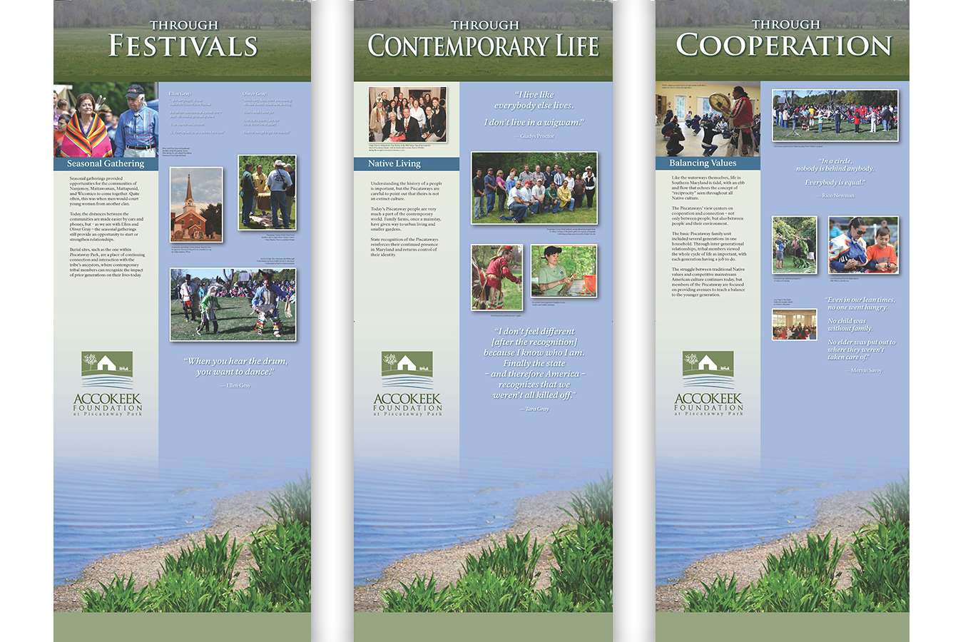 8P Bans 4-6 : Portable Banner Stands used at events and for educational programs