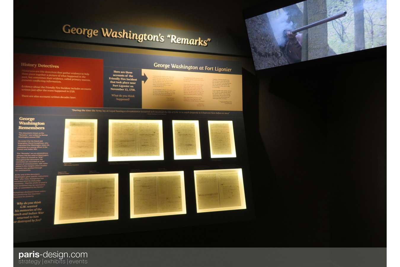 "19W Remarks : GW's handwritten ""Remarks"" are accompanied by a video of the ""Friendly Fire Incident"""