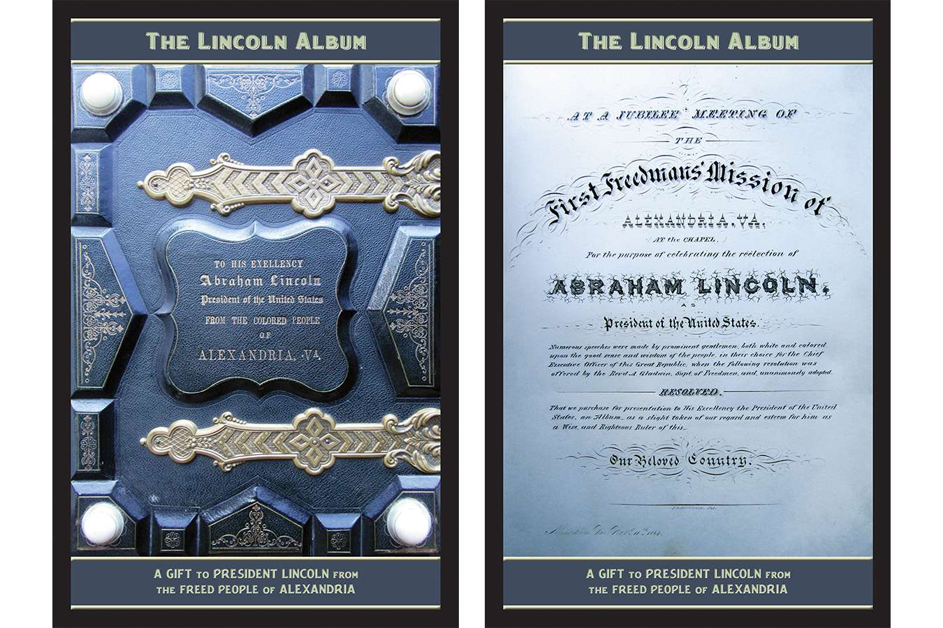 1 Linc Alb : Cover and Title Page of the Lincoln Album