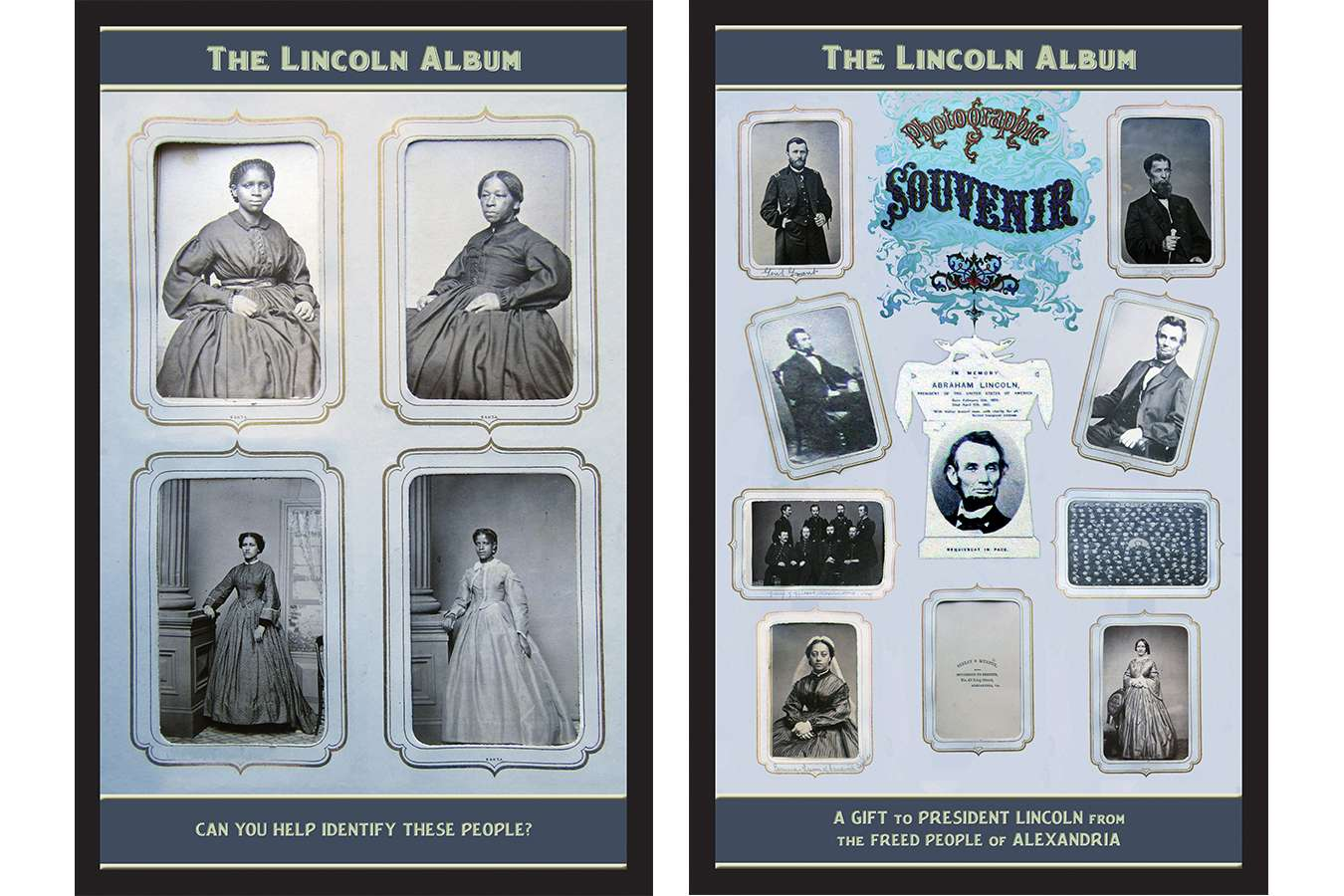 3 Linc Alb : This Lincoln Album contains many pages of souvenir photos, and Cartes de Visite