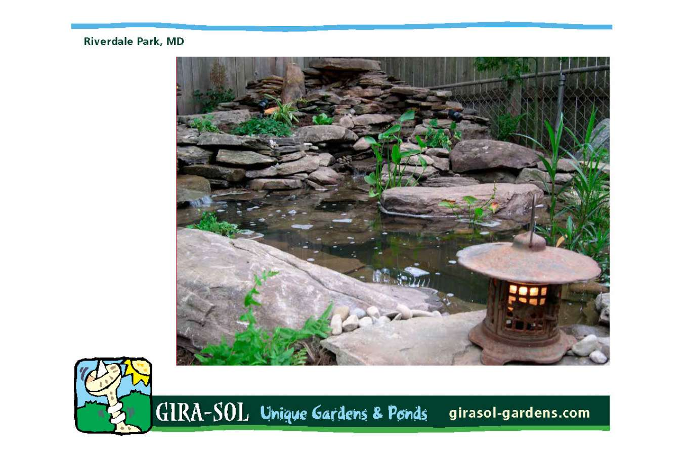 Girasol 8.5 x 11 book 16_Page_11 : Pond with double waterfall portfolio page