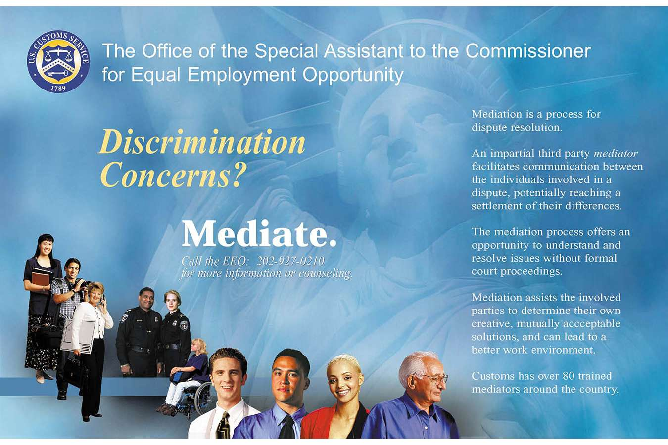 EEO Front : Equal Employment Opportunity office Poster for US Custos