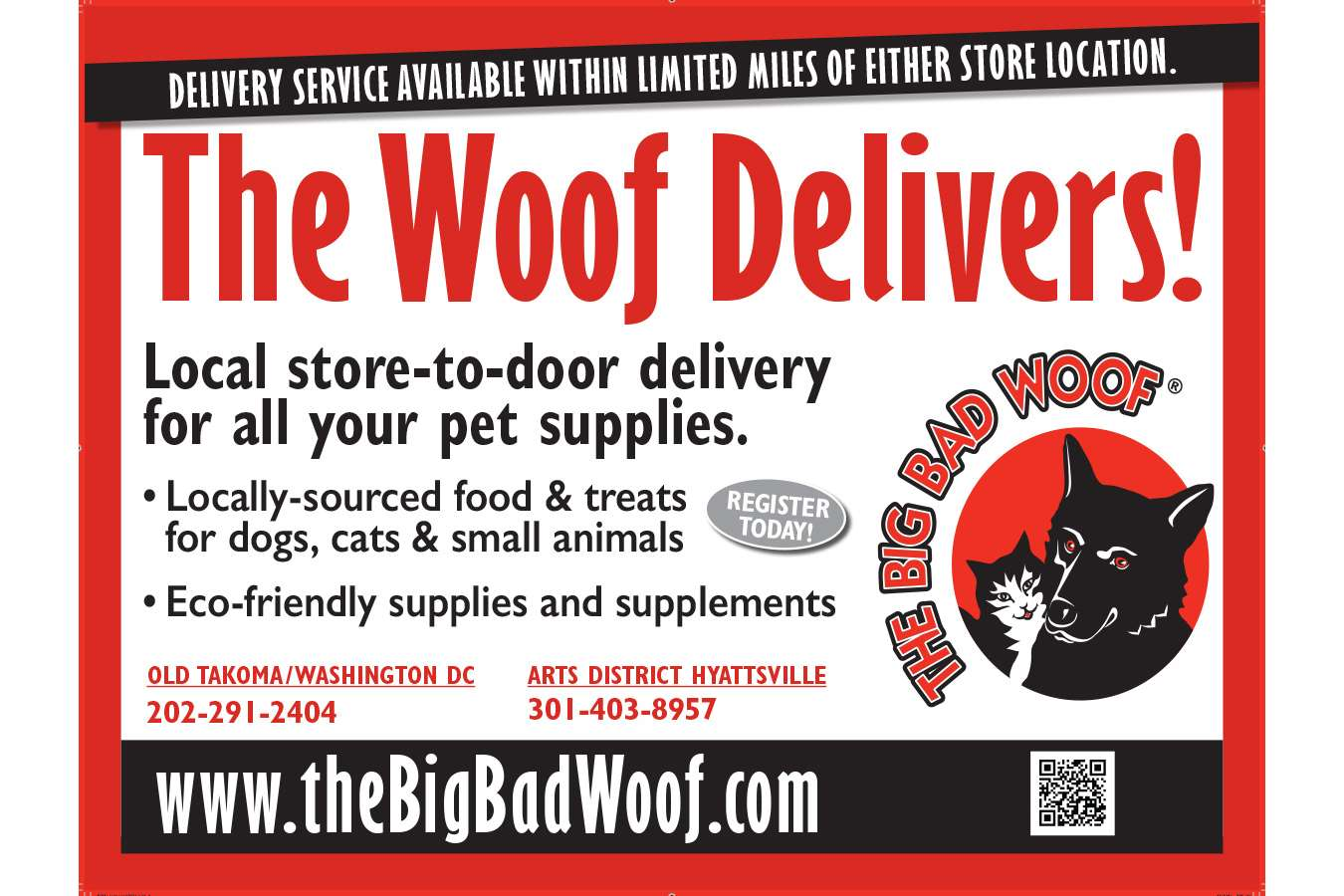 BBWoof : Magnets for Big Bad Woof Delivery Fleet