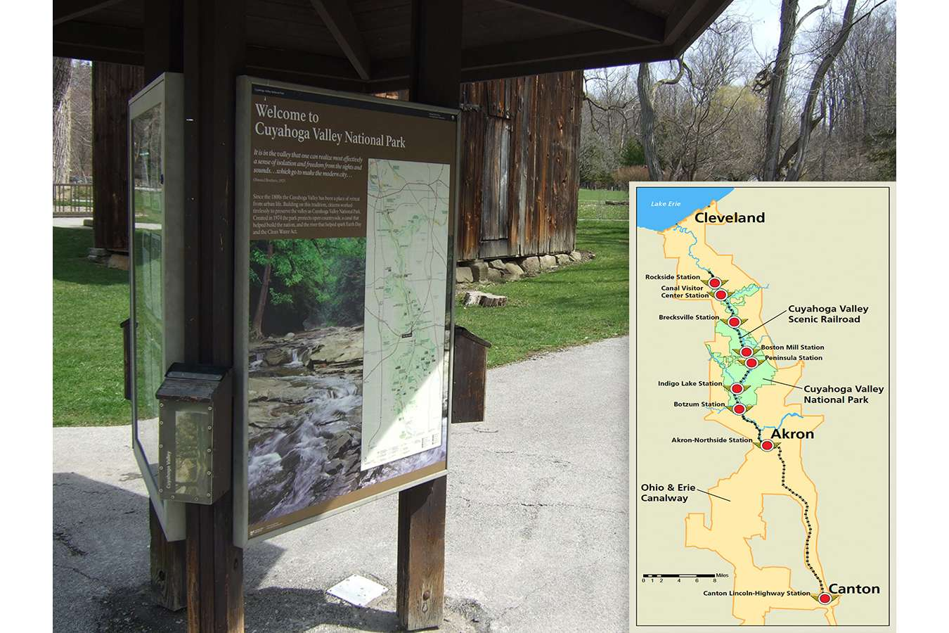 CUVANPS1 : Waysides for the Cuyahoga Valley National Park include new logos, maps and partnership branding