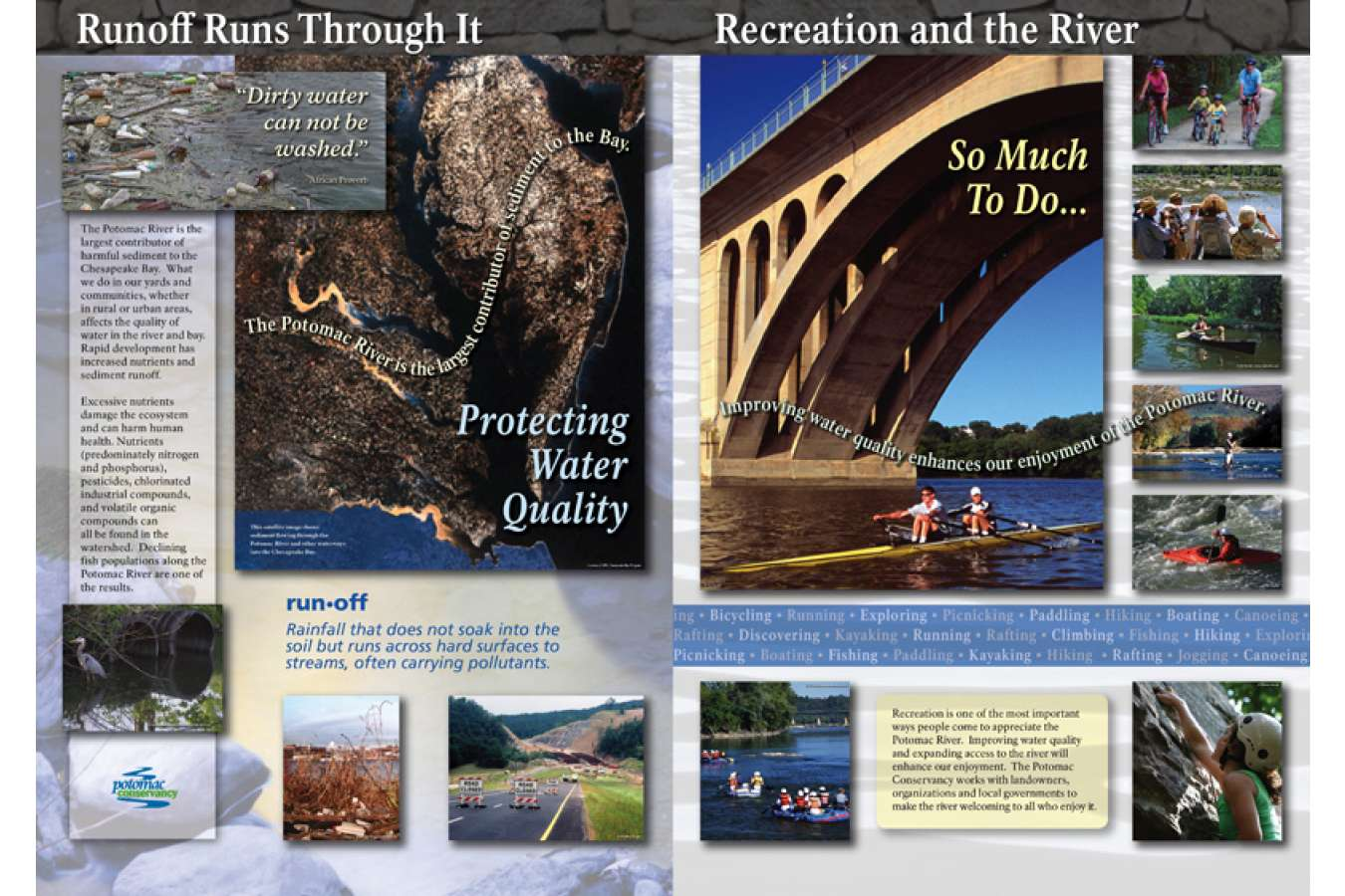 Potcy 4a&b : Runoff Runs Through it & Recreation and the River Displays at the River Center