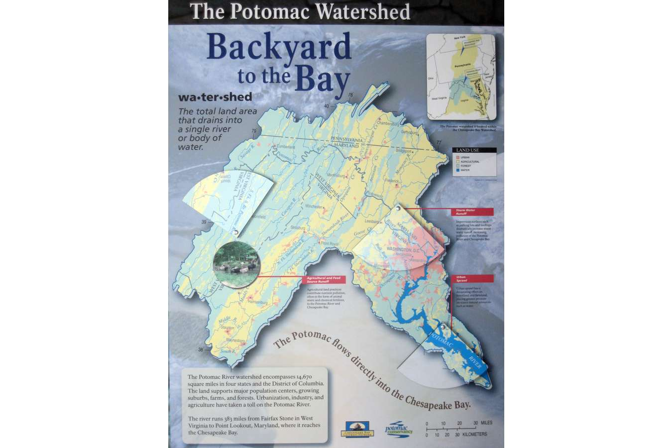 1Bckyrd2bay : Backyard to the Bay Maps the Potomac River Watershed with Wedge-shape Reveal Windows
