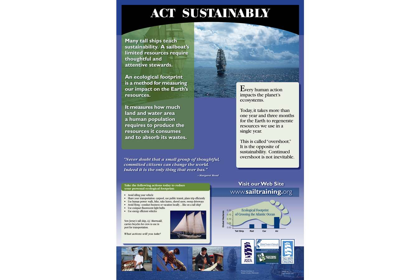 ASTA PF Sustain act : At sea education includes teaching sustainability