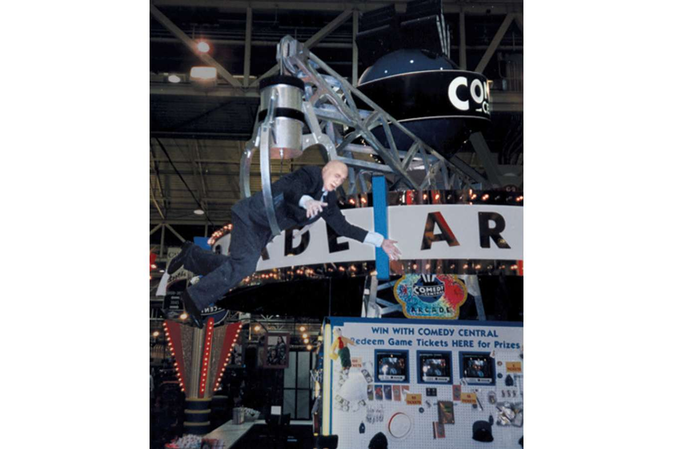 "ccentral1 : ""Grab-A-Guest"" animatronic ""pulled off the floor"" with toilet paper on his shoe."