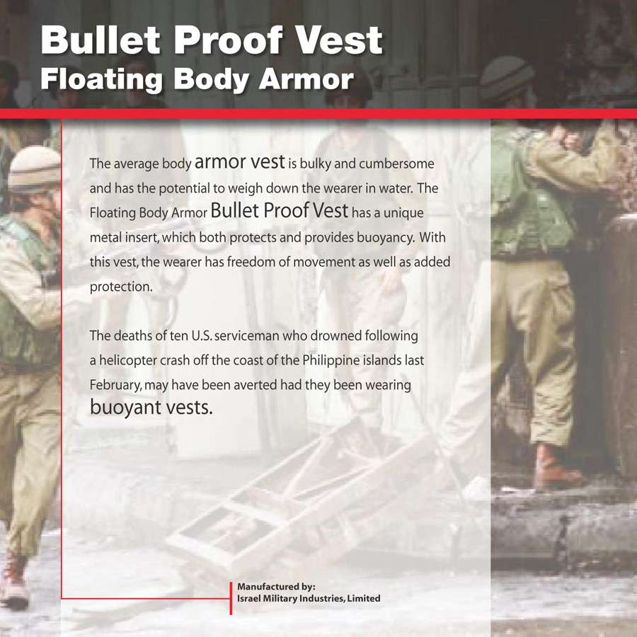 AIPST02_Vest : Explanatory panel for bullet proof vest in the ordinance gallery