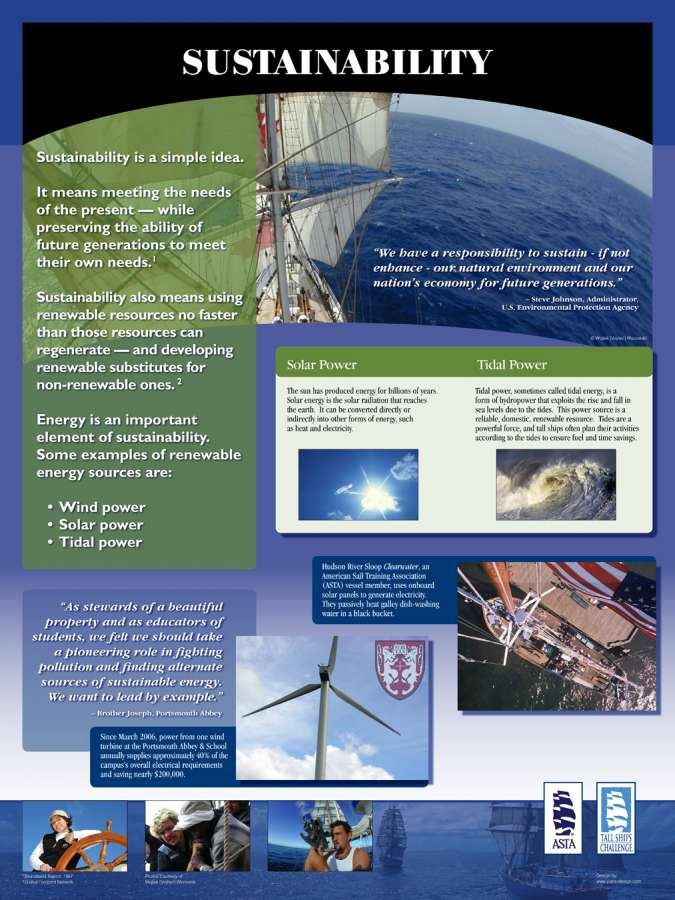 ASTA 30X40 SUSTAIN sml 5 : Posters showing the sustainable aspects of Sailing