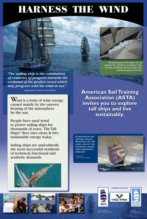 ASTA PF Harness : Wind Power moves the tall ships across the ocean