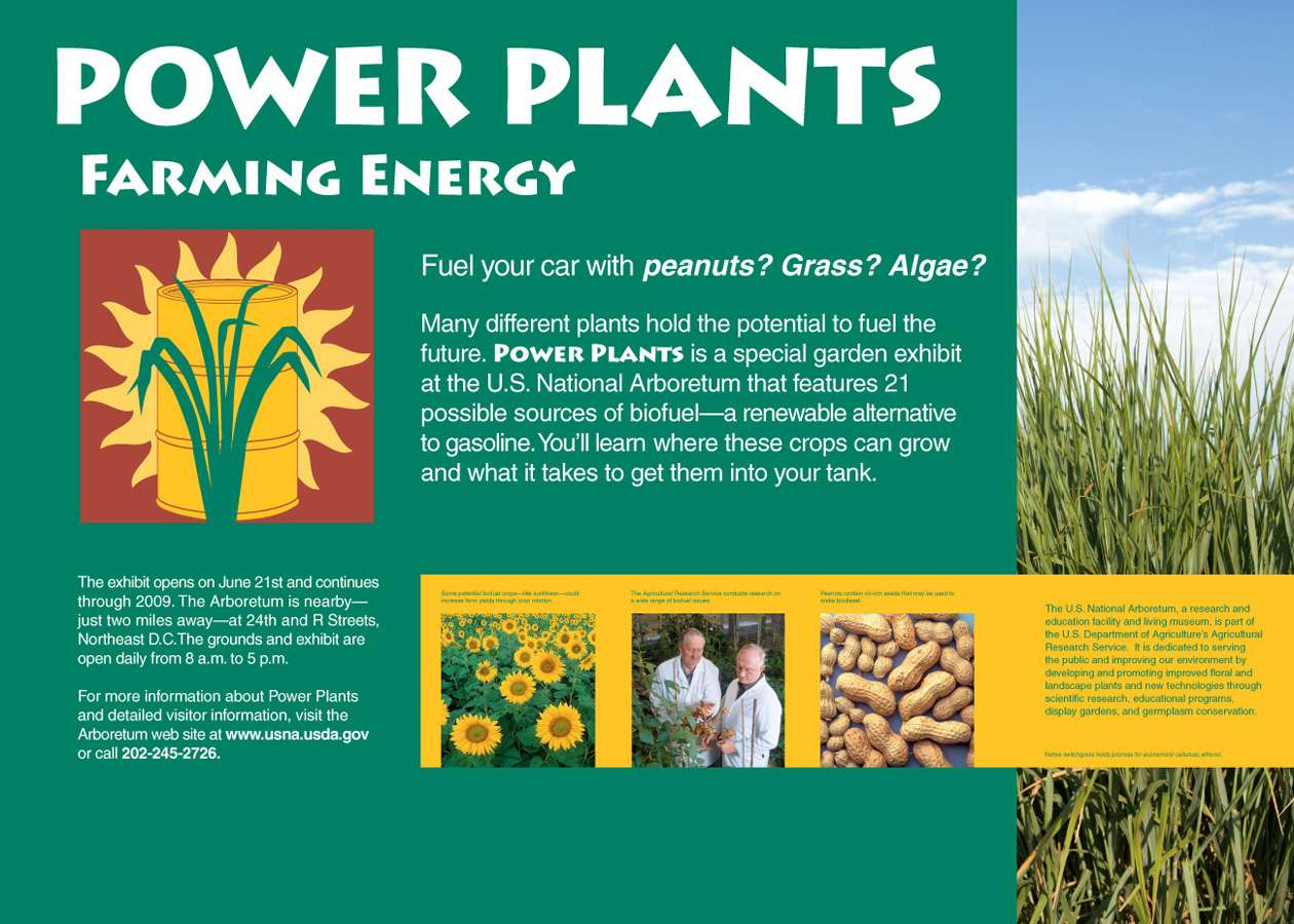 Arbor 3grfc  : Farming Energy plaque invites visitors to visit Power Plants at the National Arboretum