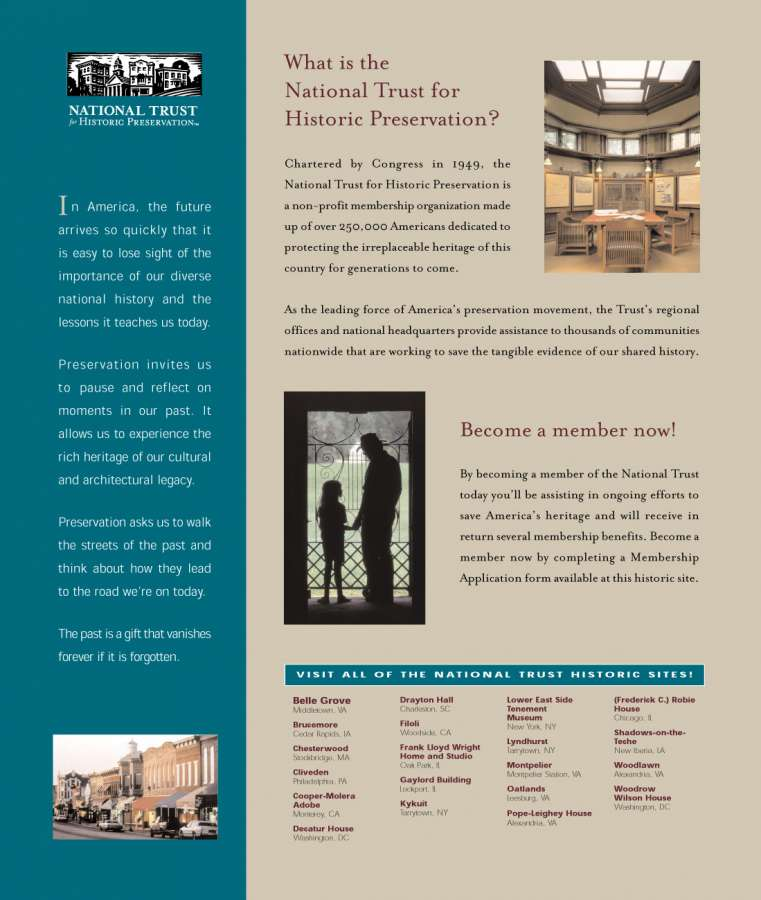 NTHP 99 : NTHP branded membership poster for kiosk or plaque at each historic site